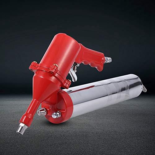 Aeloa Pistola engrasadora Pistola engrasadora de Agarre Manual con Conjunto de extensión de Bomba de compresor neumático de Aire Herramienta de Inicio