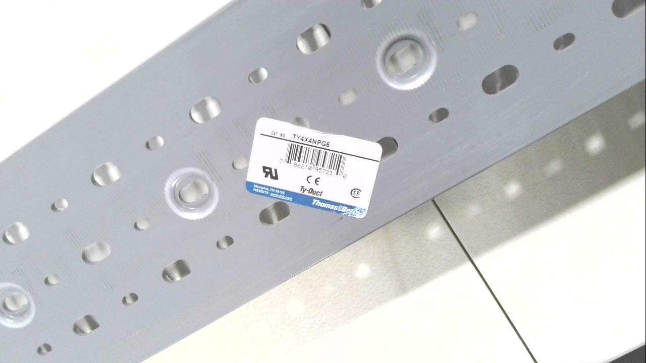 Thomas and Betts Ty4x4npg6 Ty-Duct Ty4x Slot Miami Max 86% OFF Mall Wiring Duct Narrow