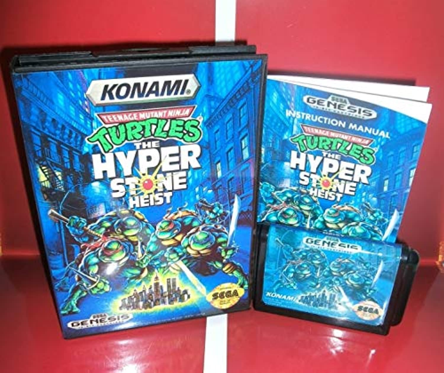 ValueSmartToys  Teenage Mutant Ninja Turtles The Hyper Stone Heist US Cover with Box and Manual for MegaDrive Video Game Console 16 bit MD Card