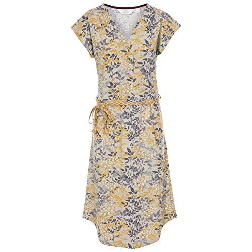 UNA Women's Short Sleeve Dress - Maize Primrose Print L