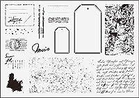 ラベルの背景透明なクリアシリコンスタンプ/DIYスクラップブッキング/ poアルバム用のシール装飾的なクリアスタンプ216