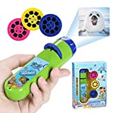 Grenf Kids Toys Slide Projector Torch Projection, Projection Animal Small Torches Flashlight Educational Learning Bedtime Fun Toy