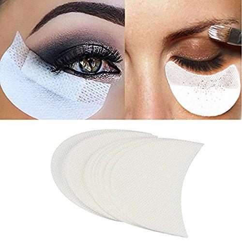 Babysbreath Makeup Eye Pad Sticker Weiße weiche Fusseln unter Bändern falsche Wimpernverlängerung einzigartige Vlies Augenklappe Tint Peitsche Make-up-Tool Lip Powder Holder 50 Stück