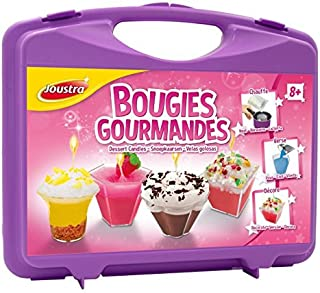 Joustra Mallette Gourmandes Loisirs Créatifs pour Enfants dès 8 ans-Activité Manuelle Fabrique des Bougies de Cire Dessert...
