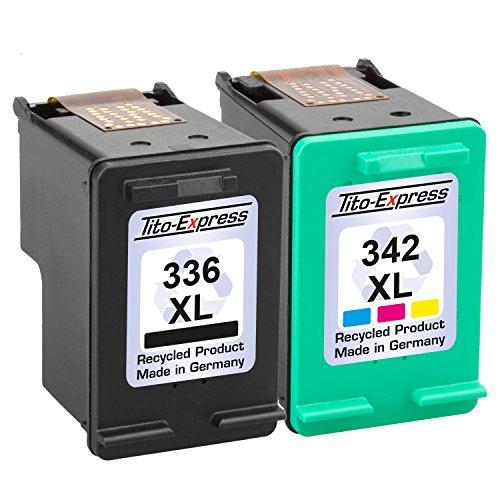 Tito-Express PlatinumSerie Set 2X Druckerpatrone für HP 336 XL & HP 342 XL Color PSC 1500 1510 1513S