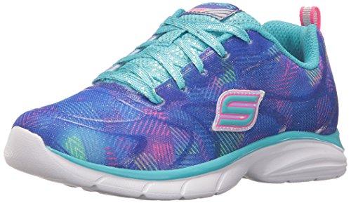 Skechers Kids Girls' Spirit Sprintz-Color Wave Sneaker,Neon Pink/Multi,