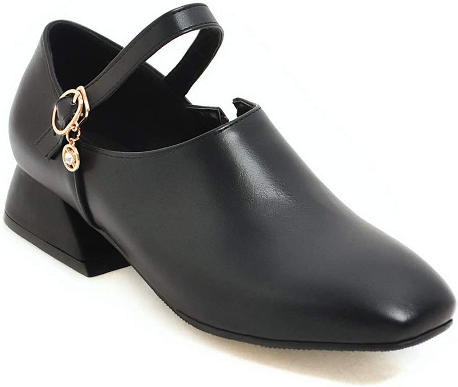 AdeeSu Womens Travel Solid Pumps-shoes Leather Pumps shoes SDC06351