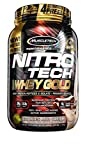 MuscleTech NitroTech Whey Gold, 100% Whey Protein Powder, Whey Isolate and Whey Peptides, Cookies and Cream, 2,2 Pound