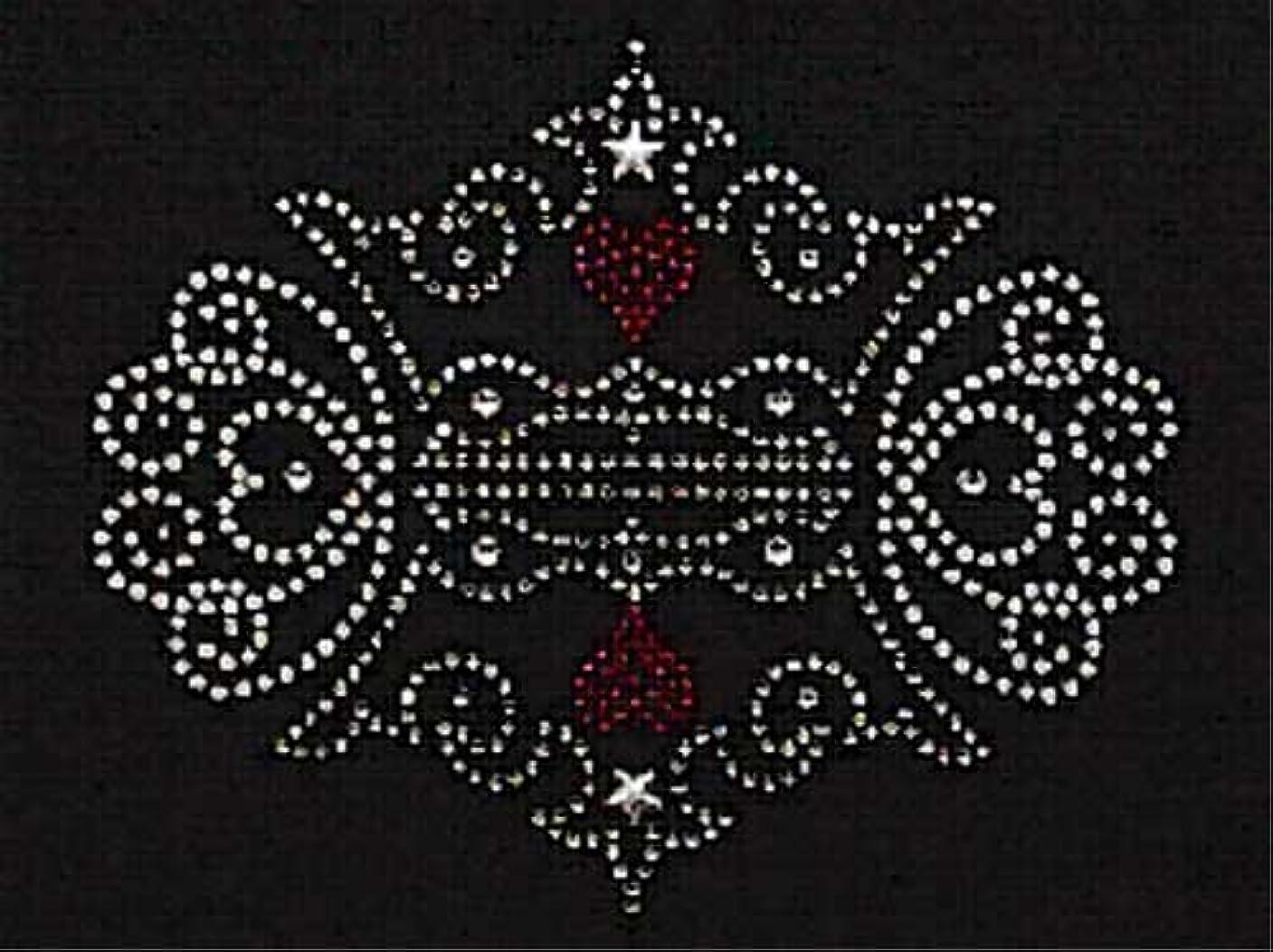 無視圧倒的偽善者スパングル&ラインストーン モチーフシート (王冠、組み合わせ) 約145×119mm [アイロン接着]