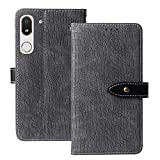 Lankashi Flip Premium Leather PC Hard Phone Gel Case for