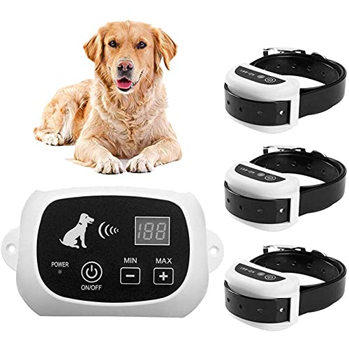 Nlight Valla Invisible Y Collares Antifuga para Perros Cerca Eléctrica para Perros,Sistema...