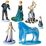 Genuine, Original, Authentic Disney Store Set of six fully sculpted figures Characters include: Elsa, Anna, Olaf, Kristoff, Sven, and Water Nokk Inspired by Disney's Frozen 2