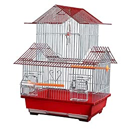 ANJJ Bird Cage – For Finch Canary Budgie and other similar sized Birds