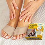 Ball of Foot Cushions (2 Pieces) - Metatarsal Pads | Forefoot Pads of of Soft Fabric - Foot Sleeve with Soft Gel Sole - Mortons Neuroma - Prevent Pain and Discomfort