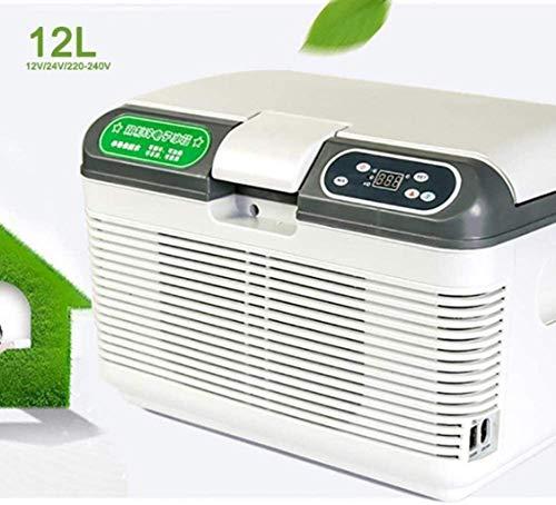 ZFFSC Refrigerador de Coche Caja de enfriamiento termoeléctrico Cabinete de enfriamiento automático 12V / 24V / 220-240V (12L) Mini gabinete refrigerador de Coche Refrigerador de Coche