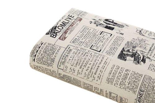 [] Journal 53,3 cm Large handworked Motif Tissu Coton Tissu (44,5 x 53,3 cm)