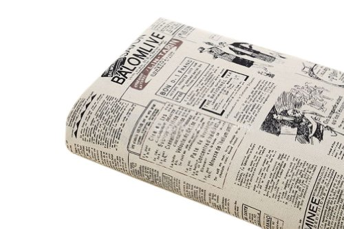 [Newspaper] 21'' Wide Handworked Pattern Fabric Cotton Fabric (17.521 Inches)