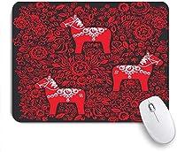 マウスパッド バナーグッズスウェーデンのポスターDalecarlianシンボルプリントDala ゲーミング オフィス おしゃれ がい りめゴム ゲーミングなど ノートブックコンピュータマウスマット