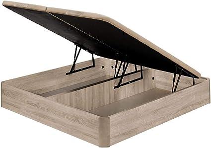 Santino Canapé Abatible Wooden Gran Capacidad Blanco 180x190 cm con Montaje a Domicilio Gratis
