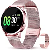 JSL Reloj inteligente para mujer IP67 impermeable Smartwatch para teléfonos Android e iOS Rastreador de actividad