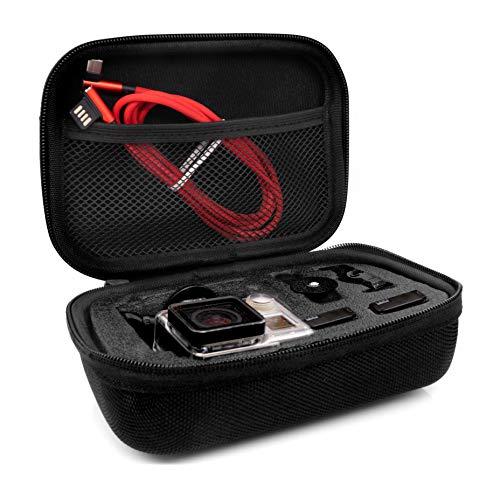 MyGadget Custodia per Gopro - Case per Trasporto Action Cam & Accessori - Borsa Portatile Impermeabile per GoPro Hero 8 7 6 5 4, Xiaomi Yi 4K - Small