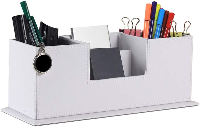 Xasclnis Stifthalter Aufbewahrungsbox Aufbewahrungsbox Aufbewahrungsbox Multifunktions Desktop Stifthalter Kreative Bilaterale Stifthalter Leder Business Bürobedarf (Farbe   Weiß) B07MYTTZTB | Produktqualität  e7cb68