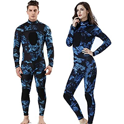 MYLEDI Neoprene 3mm Scuba Diving Suit One Piece Mens Spearfishing Full Body Spearfishing Wetsuit (MY044, XXL)