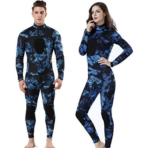 MYLEDI Neoprene 3mm Scuba Diving Suit One Piece Mens Spearfishing Full Body Spearfishing Wetsuit (MY044, XXXL)
