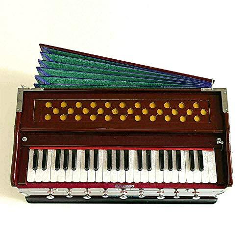Naad NS-24 Indischer Stil Best Harmonium 9 Stopper Chudidaar Bellow 42 Schlüssel Zwei Blätter Bassmännlich
