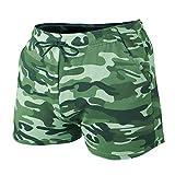 Shorts D'entraînement pour Hommes Entrejambe 4 Pouces Slim Fit Extensible 95% Coton éponge 5% élasthanne pour La Course à Pied, La Musculation, Le Sport Color Camo Green Size XL