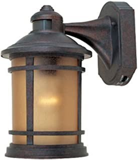 Designers Fountain 2371MD-MP Sedona Motion Detector - One Light Outdoor Wall Lantern, Mediterranean Patina