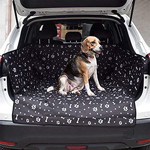 Rysmliuhan Shop Kofferraumschutz Hunde Mit Seitenschutz Hundedecke Auto Kofferraum Hundezubehör Vorderer Autositzbezug für Hunde Hundeabdeckung für Autositze Black