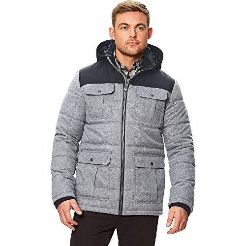Regatta Arnault Veste à capuche hydrofuge pour homme Effet laine XL Gris roche/noir.