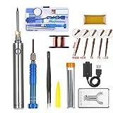 Kit de soldador de estaño,KKmoon 5V 8W Soldador Inalambrico Mini Soldador de Batería con Herramientas de Soldadura USB (9PCS)