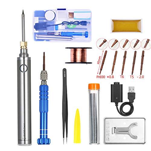 KKmoon Lötkolben 5V 8 W Wireless Charging Lötkolben Mini Akku Lötkolben Set mit USB Schweißwerkzeug