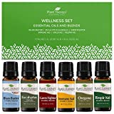 Plant Therapy Essential Oils Wellness Blends Set 100% Pure, Undiluted 6 x 10 mL