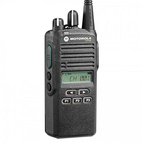 CP185 VHF AAH03KEF8AA7AN Original Motorola 136-174 MHz Handheld Two-way Radio Transceiver 5 Watts, 16 Channels Black - 2 Year Manufacturer Warranty