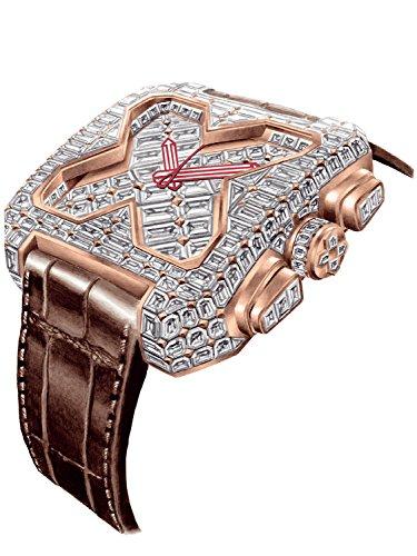 [ブチアーニ] 腕時計 ビッグスクエア 18Kローズゴールド フルダイヤモンド 25カラット トゥールビヨン [正...