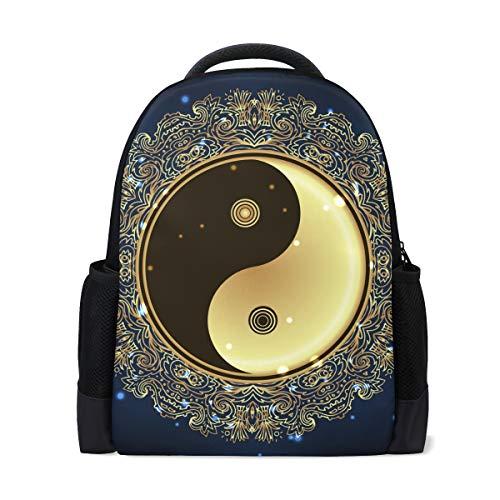 U LIFE Mochila escolar para laptop bolsa de caminhada para meninos, meninas, crianças, homens, mulheres, cultura chinesa, filosofia naturalistas