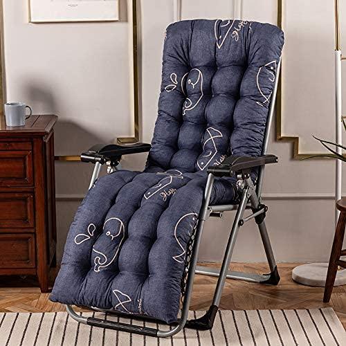 SHDS Cuscino per Sedia con Schienale Alto Cuscino per Sedia a Dondolo Spesso Poltrona da Giardino Imbottita in Cotone Cuscino per Sedia per Divano Relax Nero 48x155cm(19x61in)
