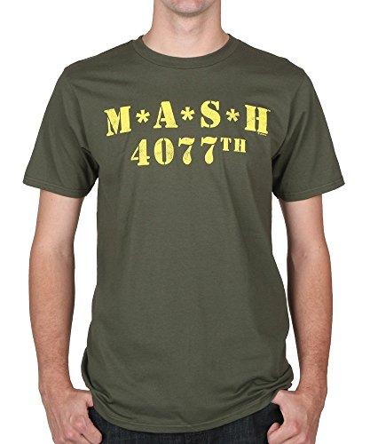 Mash Logo 4077th Military - Camiseta, color verde, Verde Militar, L