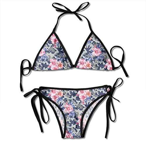 Adjustable Bikini Set Halter Ladies Swimming Costume, Victorian Theme