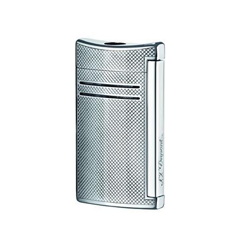 S.T. Dupont Maxijet-Feuerzeug, gebürstetes Chrom-P 65 x 37 x 14 mm Chrom-Gitter
