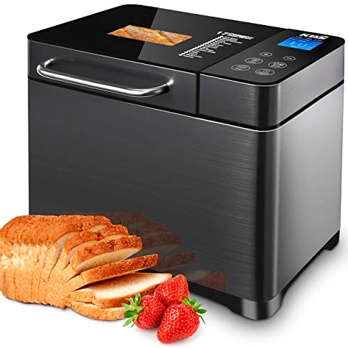 KBS 17-in-1 Bread Machine with Double Tubes, 2LB XL...