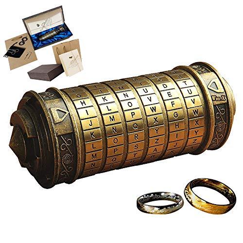 WenX Da Vinci Code Mini Cryptex/Mini Password Box/Regalo de cumpleaños romántico para el día de San Valentín.