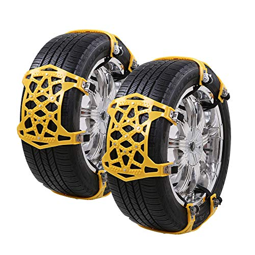 CROSOFMI Snow Chains for Tyres  Universal Anti-Skid Chains...