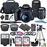 Canon EOS Rebel T7 DSLR Camera Bundle with Canon 18-55mm Lens + Canon