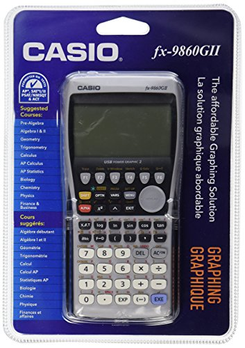 Casio fx-9860GII Graphing Calculator, Black (Renewed)
