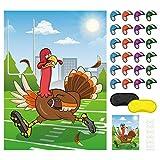 FEPITO Pin den Hut auf der Türkei Thanksgiving-Spiele Festliche Fall-Party-Aktivitäten für Thanksgiving Party Favors