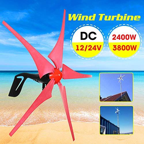 Raenhero 5 de Hoja Opcional de imán Permanente de turbina de Viento 12V / Asamblea Aerogenerador 24V 2400W / 3800W Viento,24V